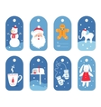 Christmas and Winter Holidays Gift Labels or Tags vector image