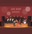 jazz music band flat with vector image vector image