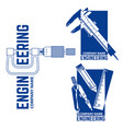 engineering company logo templates vector image