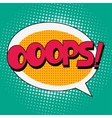 Ooops Comic Book Bubble Text vector image