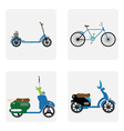 monochrome icon set with motorbike vector image