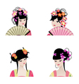 Chinese girls vector image
