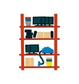 Storehouse Shelf With Objects vector image