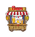beer pub outdoor composition vector image