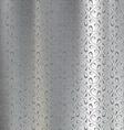 Metal plate engraved vector image