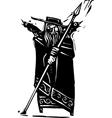 Norse God Odin vector image