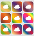 Cloud icon Nine buttons with bright gradients for vector image