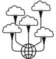 Plug technology into Global Cloud Computing vector image vector image