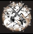 two guitars vector image