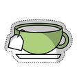 tea cup beverage isolated icon vector image