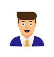 business man in suit office worker manager flat vector image