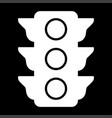 Traffic light the white color icon vector image
