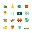 Cinema Flat Icons Set vector image