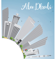 Abu Dhabi City Skyline with Gray Buildings vector image
