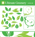 Ultimate greenery set vector image vector image