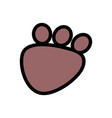 Animal print draw vector image