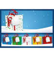 Christmas Background Gift with Label vector image