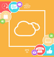 clouds line icon vector image