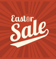 easter sale type font for business vector image