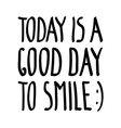 good day smile vector image