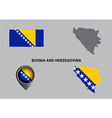 Map of Bosnia and Herzegovina and symbol vector image