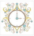old vintage clock with pink and blue vector image
