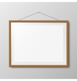 Realistic wooden photo frame vector image