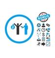 Robbery Flat Icon with Bonus vector image
