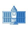 school education building facade clock windows vector image