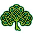 shamrock celtic tattoo vector image
