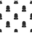 teacher icon in black style isolated on white vector image