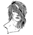 Woman with stylish hairstyle vector image