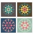 Set of 4 colored versions geometry mandala pattern vector image