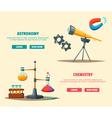 Set of science logo Cartoon Education theme vector image vector image