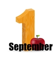 1 september date vector image