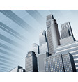 urban city business background vector image vector image