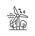 Windmill - modern single line icon vector image