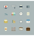 Business collection of flat stationery supplies vector image