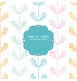 Abstract textile colorful vines leaves frame vector image