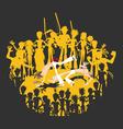 Brazilian Martial Art Capoeira Roda Circle vector image