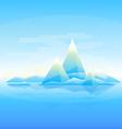 Mountain landscape background vector image
