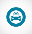 taxi icon bold blue circle border vector image