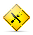 Restaurant road sign vector image
