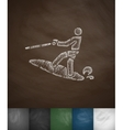 surfer icon Hand drawn vector image