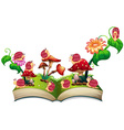 Book of snails in the garden vector image
