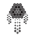 abstract geometric monochrome dream catcher vector image