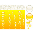 beer and bubbles vector image