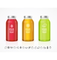 Colorful Juice Bottle Jar Template Set vector image