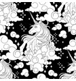 cute graphic unicorn pattern vector image