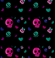 emo style seamless pattern vector image